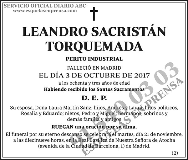 Leandro Sacristán Torquemada